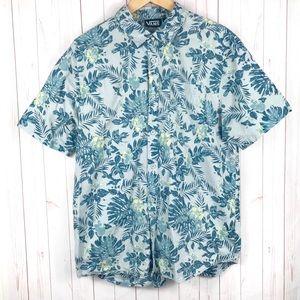 Vans Hawaiian Blue Shirt Size L
